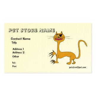 Clínica del mascota o tarjeta de visita del cuidad