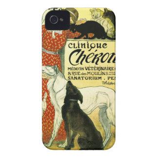 Clínica veterinaria francesa Chéron del perro del iPhone 4 Protector