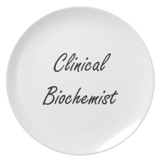 Clinical Biochemist Artistic Job Design Dinner Plates