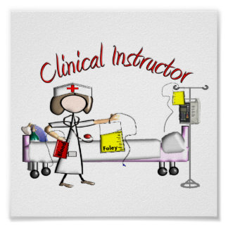 Clinical Instructor Art Poster -Embossed Style