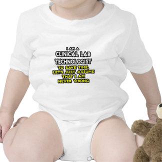 Clinical Lab Tech Joke .. Never Wrong Tshirt