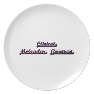 Clinical Molecular Geneticist Classic Job Design Party Plates
