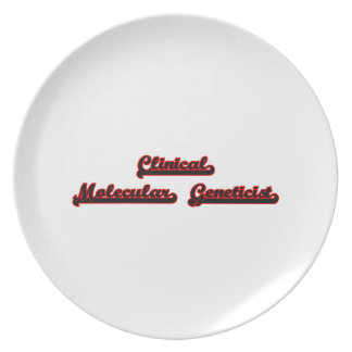 Clinical Molecular Geneticist Classic Job Design Dinner Plate