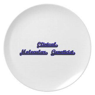 Clinical Molecular Geneticist Classic Job Design Plate