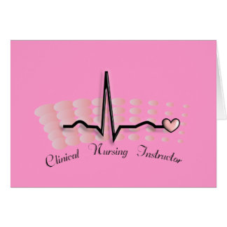 Clinical Nursing Instructor QRS Design Greeting Card