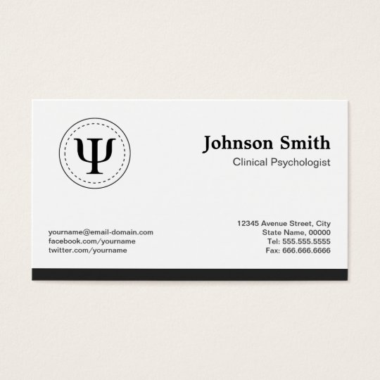 Clinical Psychologist Psychology Psi Symbol Business Card