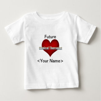 Clinical Therapist chrome font and Red Heart Baby T-Shirt