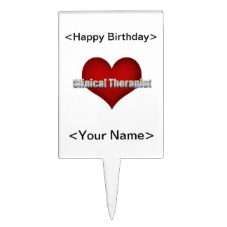Clinical Therapist chrome font and Red Heart Cake Pick