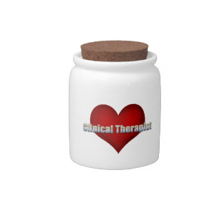 Clinical Therapist chrome font and Red Heart Candy Dishes