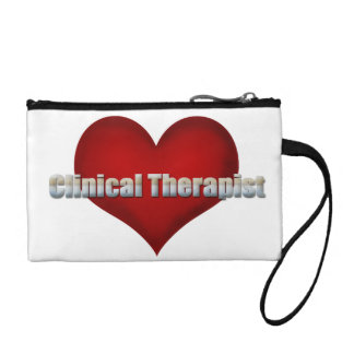 Clinical Therapist chrome font and Red Heart Change Purse