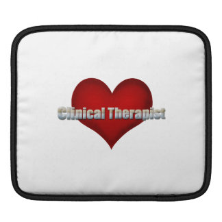 Clinical Therapist chrome font and Red Heart iPad Sleeves