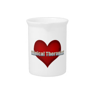 Clinical Therapist chrome font and Red Heart Pitcher
