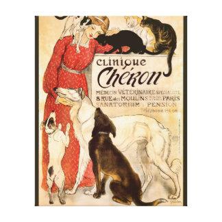 Clinique Cheron Vintage Veterinary Advertisement Canvas Print