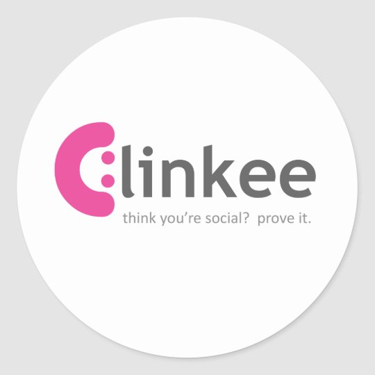 clink for the cure classic round sticker