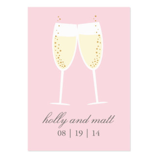Clinking Glasses Wedding Rehearsal Favor Tag Large Business Card