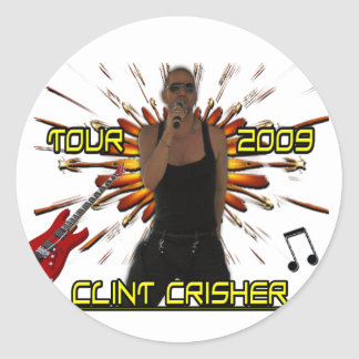 Clint Crisher 2009 Front/Back Classic Round Sticker