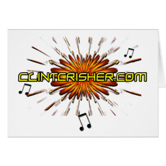 Clint Crisher 2009 Front- ClintCrisher.com Back Greeting Card