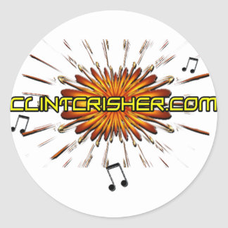 Clint Crisher 2009 Front- ClintCrisher.com Back Classic Round Sticker