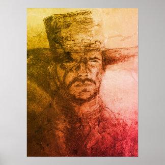 Clint Eastwood Cowboy Poster
