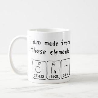 Clint periodic table name mug