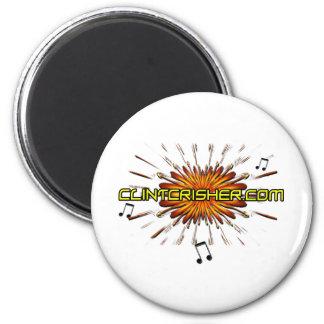 ClintCrisher.com Imán Redondo 5 Cm