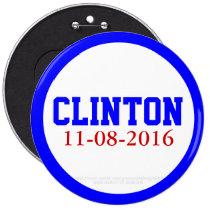 Clinton 11-08-2016 by GrassrootsDesigns4u 6 Inch Round Button