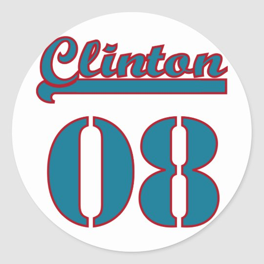 Clinton 2008 classic round sticker