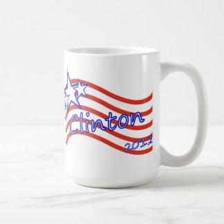 Clinton 2012 Stripes With 3 Stars Coffee Mug