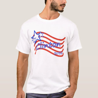 Clinton 2012 Stripes With 3 Stars T-Shirt