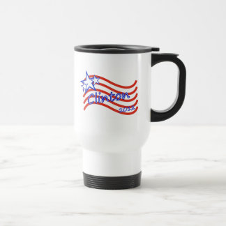 Clinton 2012 Stripes With 3 Stars Travel Mug