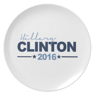 CLINTON 2016 CAMPAIGN SIGN DINNER PLATES