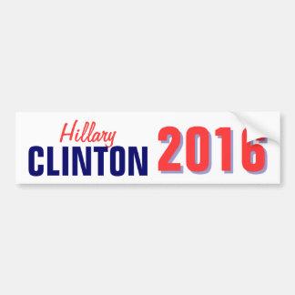 Clinton 2016 car bumper sticker