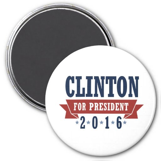 CLINTON 2016 CERTIFIED RIBBON -.png 3 Inch Round Magnet