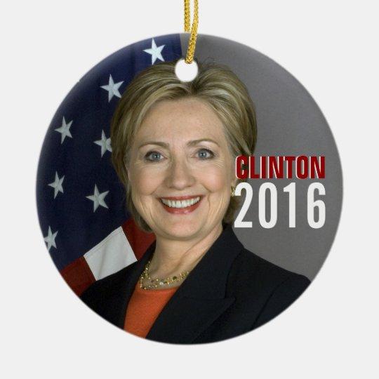 Clinton 2016 Christmas Tree Ornament