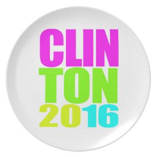 CLINTON 2016 NEON PARTY PLATES