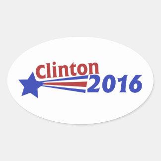 Clinton 2016 oval sticker