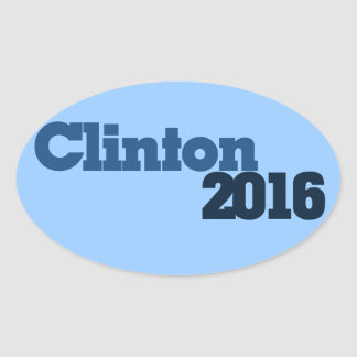 Clinton 2016 calcomania oval