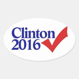 Clinton 2016 colcomanias oval personalizadas