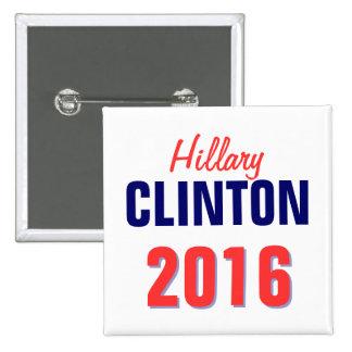 Clinton 2016 pin cuadrado