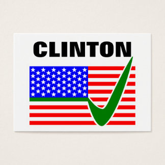Clinton 2016 President Business Card