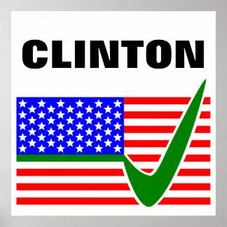 Clinton 2016 President Poster