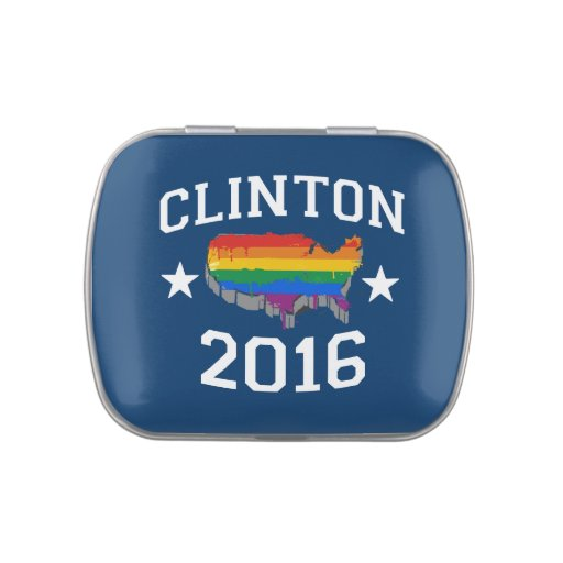 CLINTON 2016 PRIDE JELLY BELLY TIN