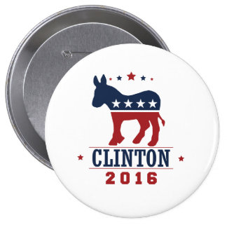 CLINTON 2016 ROCKWELL -.png Pinback Button