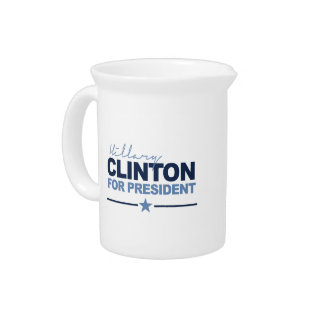 CLINTON 2016 SIGNERICA BEVERAGE PITCHERS