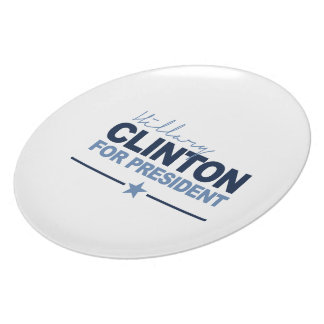 CLINTON 2016 SIGNERICA PARTY PLATES