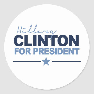 CLINTON 2016 SIGNERICA -.png Round Stickers