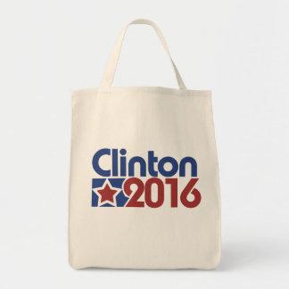 Clinton 2016 star politics grocery tote bag