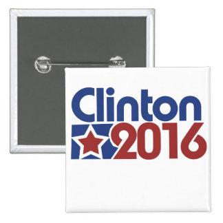 Clinton 2016 star politics 2 inch square button