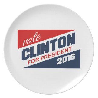 CLINTON 2016 SUPPORTER PLATES