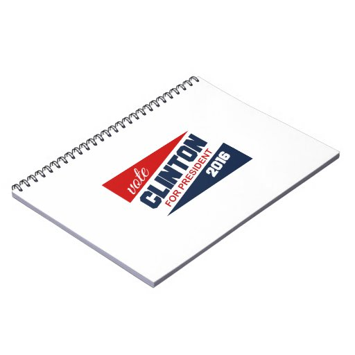 CLINTON 2016 SUPPORTER -.png Note Books